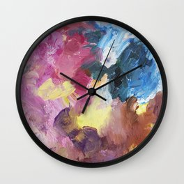 Drinking Up the Rain Abstract Painting Wall Clock