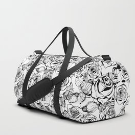 Hand drawn roses pattern Duffle Bag