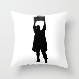 Say Anything Boombox Throw Pillow