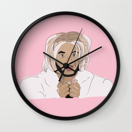 messy bitch who lives for drama Wall Clock