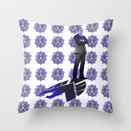 The New Director Works In The Shadows Throw Pillow