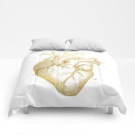 Gold Heart Comforters