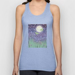 Moonlit stars, luna moths, snails, & irises Unisex Tank Top