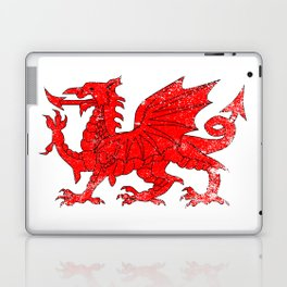 Welsh Dragon With Grunge Laptop & iPad Skin