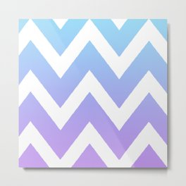 Gradient Chevron Metal Print