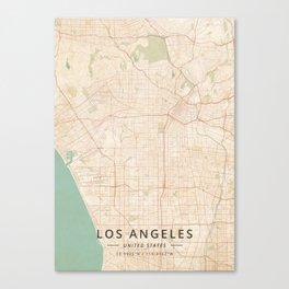 Los Angeles, United States - Vintage Map Canvas Print