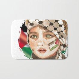 Free Palestine in watercolor Bath Mat