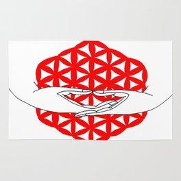 dhyana mudra Rug