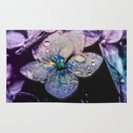 Hydrangea Raindrops with verse Rug