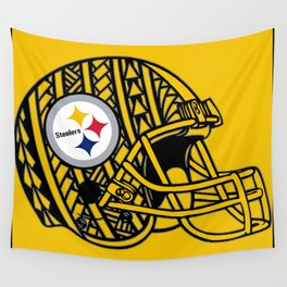 Polynesian style Steelers Wall Tapestry