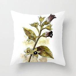 Atropa Belladonna Throw Pillow