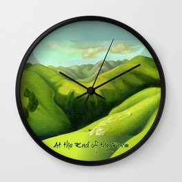 Mustering at the End of the Farm Wall Clock