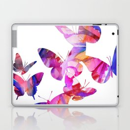 Pink Butterflies Laptop & iPad Skin