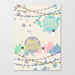 #Merry&Bright5 Canvas Print