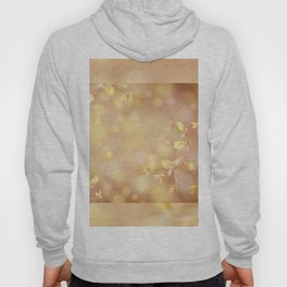 Many young spring leaves on blurred background Hoody
