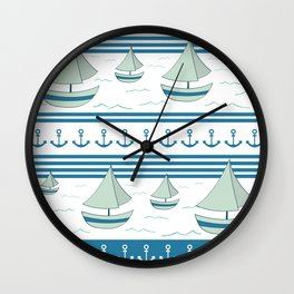 Sea lovers Wall Clock