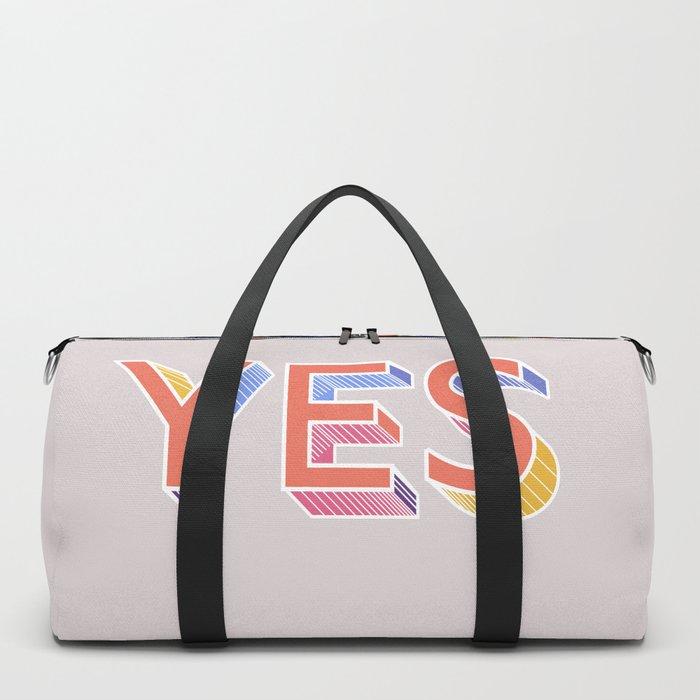 YES - typography Duffle Bag