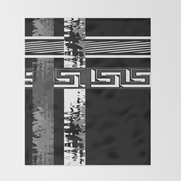 Creative Black and white pattern . The braided belts . Throw Blanket