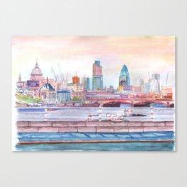 Colorful London Canvas Print