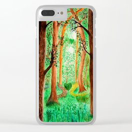 Path of Heart Clear iPhone Case