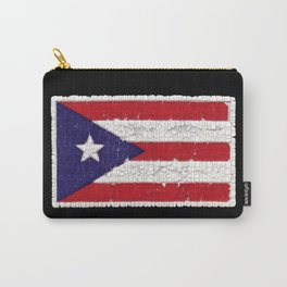 Puerto Rican flag with distressed textures Carry-All Pouch