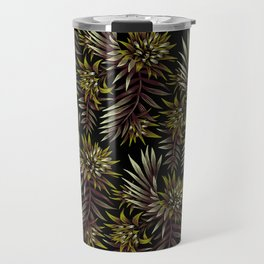 Aechmea Fasciata - Dark Green / Brown Travel Mug