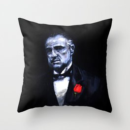 Don Vito Corleone The Godfather Throw Pillow