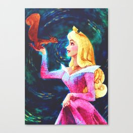 Princess Aurora Van Gogh Canvas Print