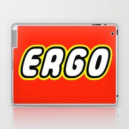 ERGO in Brick Font Logo Design by Chillee Wilson Laptop & iPad Skin