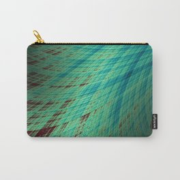 Run Off - Teal and Brown - Fractal Art Carry-All Pouch