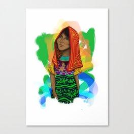 Ustup - kuna/guna girl Canvas Print