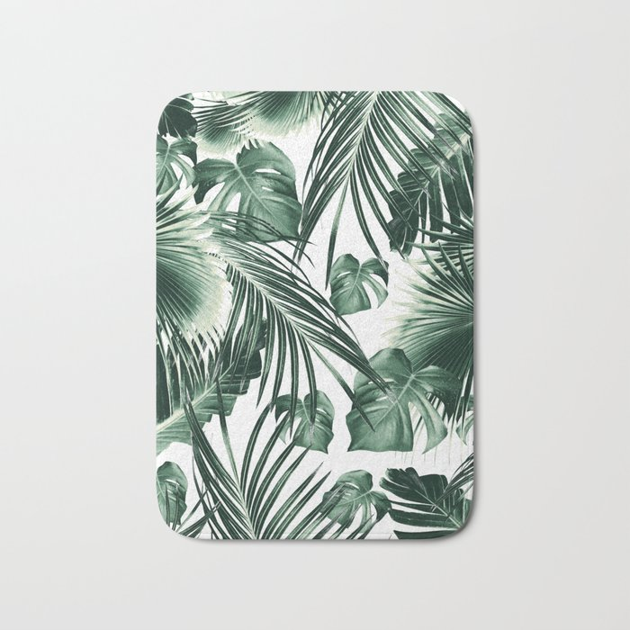 Tropical Jungle Leaves Dream #7 #tropical #decor #art #society6 Bath Mat