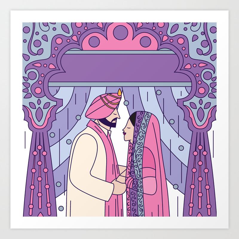 Sikh Wedding Art Print by Scdbalaji PRN7856472