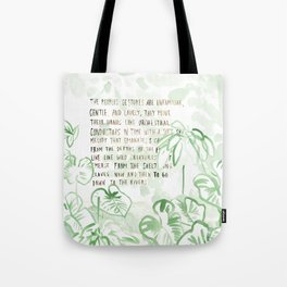 """""""Conquest of the Useless"""" by Werner Herzog Print (v. 3) Tote Bag"""