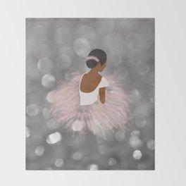 African American Ballerina Dancer Throw Blanket