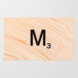 Scrabble Letter M - Large Scrabble Tiles Rug