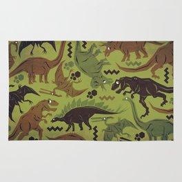 Camouflage Dinosaur Geometric Pattern Rug