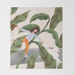 Going On A Walk Throw Blanket