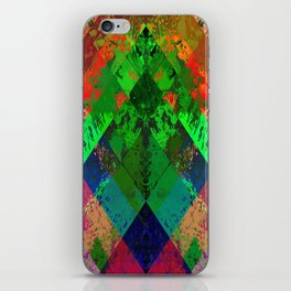 Beauty In Symmetry - Abstract, geometric, textured, symmetrical artwork iPhone Skin