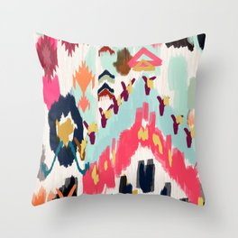 Bohemian Tribal Painting Throw Pillow