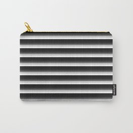 Stripes Black Gray & White Ombre Carry-All Pouch