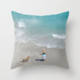 Morning on Clifton Beach Throw Pillow