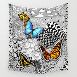 Tangled Butterfly Wall Tapestry