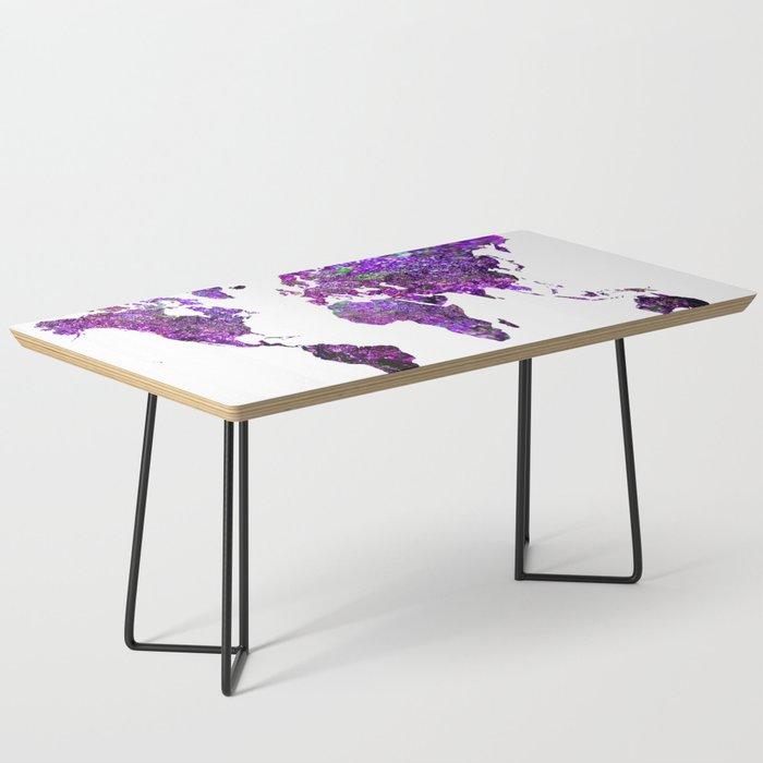 Purple World Map Coffee Table