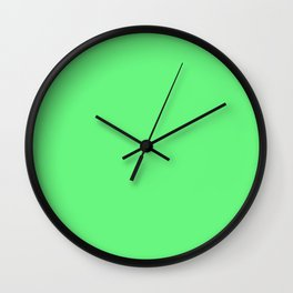 Lime Green Sorbet Ice Cream Gelato Ices Wall Clock