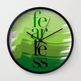 Fearless: Green Wall Clock