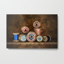Old Cotton Bobbins Metal Print