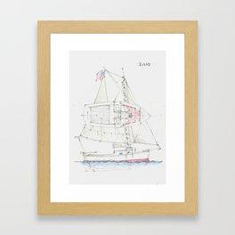 22 Ft Sloop Framed Art Print