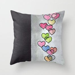 Periscope Hearts Throw Pillow