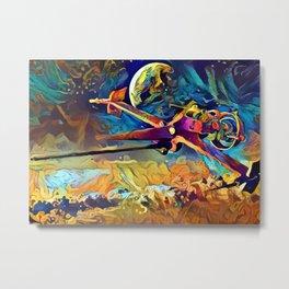 Spike's SwordFish-Cowboy Bebop Metal Print